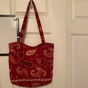 Red Vera Bradley tote purse